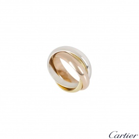 Cartier Tri-Colour Gold Trinity Ring Size 54 B4052754